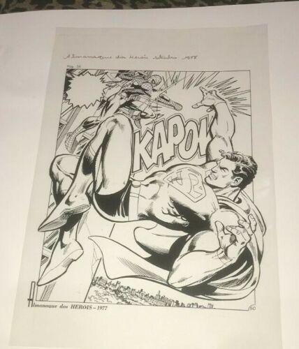 Amazing Spiderman Versus Superman Marvel DC Comics Cover Production Art Acetate