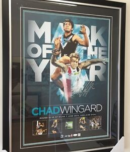 Port Adelaide FC   Chad Wingard Signed & Framed Mark of the Year Ingle Farm Salisbury Area Preview