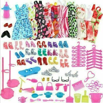 85 Pieza/Traje Conjuntos de ropa 10pcs ropa Y 75pcs accesorios Para Barbie Dolls