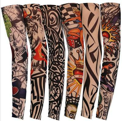 2pcs Tattoo Sleeve Mix Nylon Stretchy Temporary Sleeves Fashion Arm Stocking  (Tattoo Sleeves)