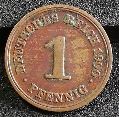 1 Pfennig Stück 1900 F Deutsches Reich Kaiserreich vorzügliche alte Münze