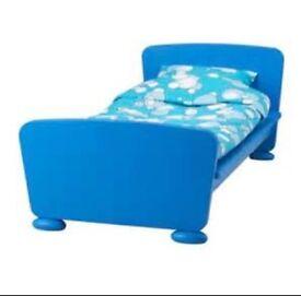 Single kids blue ikea bed