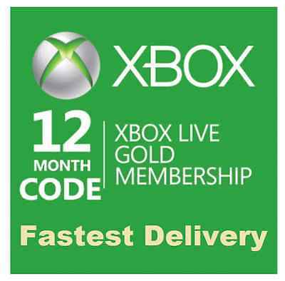 Xbox Live 12 Months Gold Membership Subscription Code Xbox One