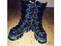 New rock boots size 7.5