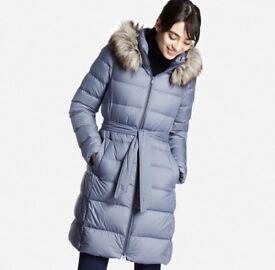Super Warm Uniqlo Down Coat Jacket - Size 8/Small