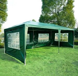 Large Party Tent 10 x 20 Green Canopy Gazebo with Sidewalls