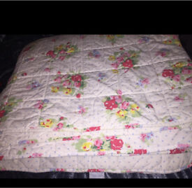Cath kidston rose bedspread/throwover to fit double or kingsize bed