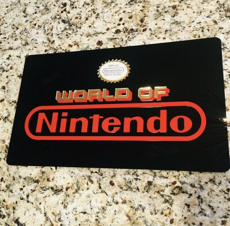 🟢 World Of Nintendo Sign Retro Gaming NES Man Cave Fast shipping