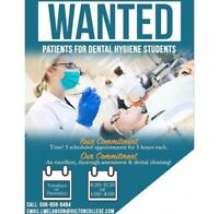 Seeking patients for our Oulton College Hygiene Students!