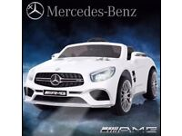 Licensed Mercedes AMG SL65 ride on car with remote control music & lights (leeds) only £160