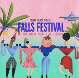 FALLS FESTIVAL 2x3 DAY AND CAMPING BYRON