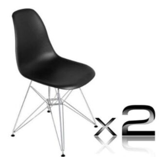 Replica Eames chairs black x2- like new Sydney City Inner Sydney Preview