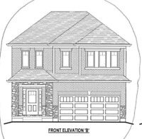 NEW CONSTRUCTION QUICK CLOSE BACKING ONTO PARK, 4 BED 3 BATH