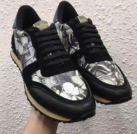 Valentino Garavani Rockstud Men's Leather Printed Sneakers