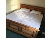 SUPER KINGSIZE BED WITH ORTHOPAEDIC MATTRESS