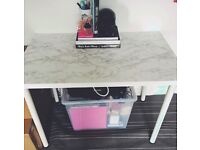 IKEA DESK with Marble Effect Top