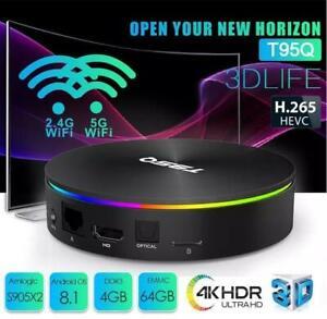 NEW ANDROID TV 8.1 T95Q ULTRA 4K S905X2 4GB/64GB  AVOV/BUZZ TV/MAG324W2 $125 TO $160 IPTV KODI 18 TERRARIUM 289-489-1199