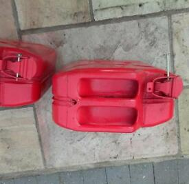 Jerry cans fuel cans