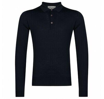 JOHN SMEDLEY BELPER Mens 100% Merino Wool Polo Shirt Size Small RRP £175 BNWT