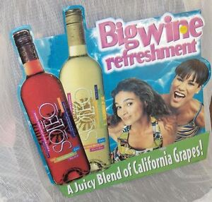 Soleo Big Wine Refreshment Sign  Colourful Tin Sign