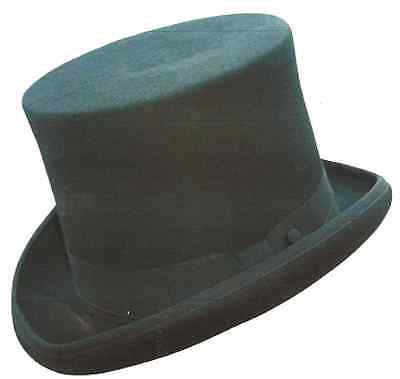 Top Hat Mens Australian Wool Satin Lined Size Large Black Steampunk