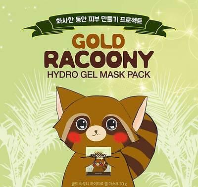 SECRET KEY Gold Racoony Hydro Gel Mask Pack 30g*4ea Firming, Soothing K-Beauty