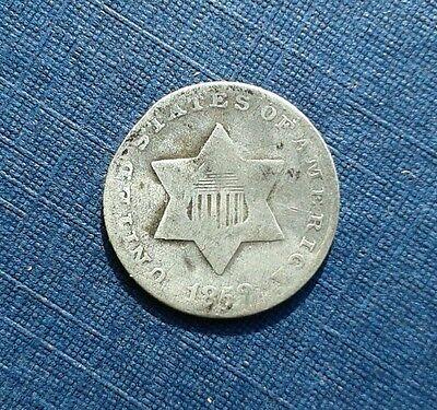 1852 USA 3 Cent