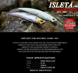 PAYO-ISLETA-140S-MAC-TUNE-Sinking-Saltwater-Vibration-Seabass-Fishing-Lure