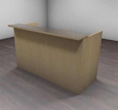 2pc Modern Glass Counter Reception Desk Set Ch-amb-r2