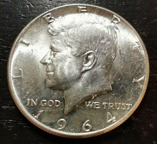 1964 50c Kennedy Half Dollar 90% Silver AU