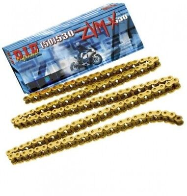 Suzuki Hayabusa DID ZVM SUPER HEAVY DUTY GOLD X-Ring Chain 530ZVMX 118