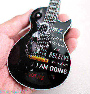 Miniature Guitar Quote from Rock Star : Led Zeppelin Jimmy Page Free (Rockstar Page)