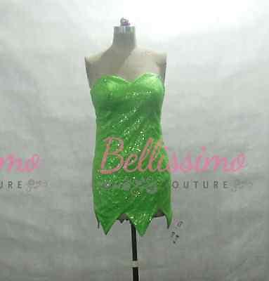 Tinkerbell Sequin Costume (Disney Tinkerbell Dress  Green sequins Costume adult SIZE)