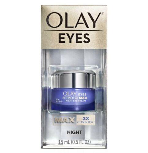 Olay Eyes Max Concentration 2X Vitamin B3+ Night Cream 15mL 0.5oz *NEW, SEALED*