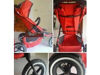 Phil and Ted double buggy with maxi cosi car seat