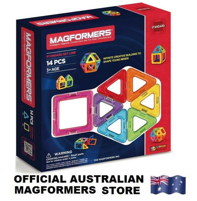 Genuine MAGFORMERS 14 Set - 3D Magnetic building construction sets 14 pcs shapes