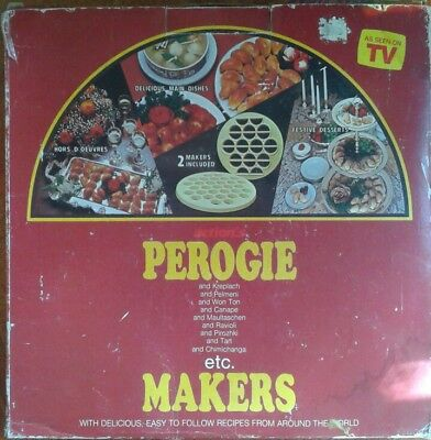 Vintage PEROGIE & Other Treats Maker Molds *New in Box* Includes Recipe Booklet