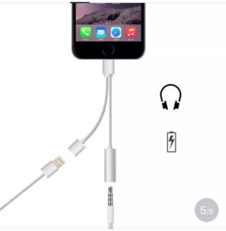 Lightning to Audio headphone Adapter chargers