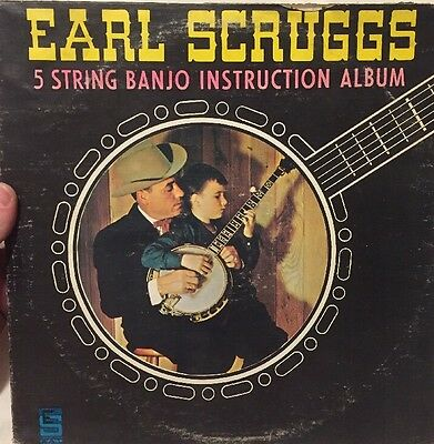 """EARL SCRUGGS 5 String Banjo Instruction Album 12"""" 33RPM LP Bluegrass TESTED for sale  Shipping to Canada"""