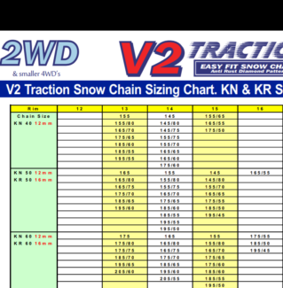 V2 Traction 2wd Snow Chains Size Kn60 Snow Sports Gumtree