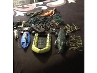 Action Man & lots of army items