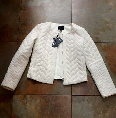 BNWT Hotel Particulier Cream Quilted Jacket Size S (8-10uk)