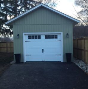 12x16 garage built on site