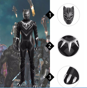 Captain America 3 Civil War Black Panther Cosplay Costume