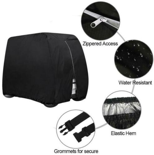 4 Passengers Golf Cart Cover Waterproof for EZGO Club Car Yamaha Zipper Storage