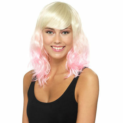 Claire's Womens Halloween Blonde Pink Ombre Wig Costumes One Size New (Halloween Costumes Pink)