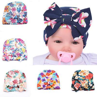 Newborn Infant Toddler Girls Baby Stripe Beanie Hat Comfys Hospital Cap