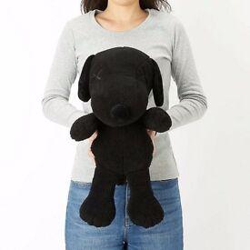 Kaws x Peanuts Snoopy medium size plush black brand new.