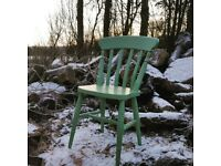 Farrow and Ball Painted Dining Chairs Farmhouse Slat Back Including Carvers - Any Colour!