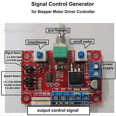 824v 12v Stepper Motor Speed Controller Module Pulse Signal Generator Driver